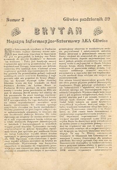 """Brytan"" nr 2 (październik 1989)"