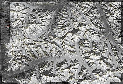 Mapa K2 and Baltoro Glacier