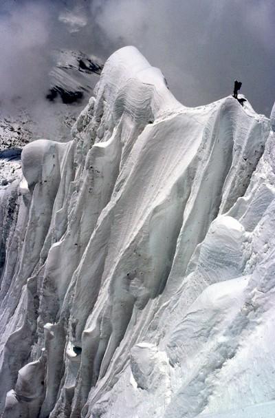 Na grani prowadzącej do południowej ściany Annapurny (fot. Ryszard Szafirski)