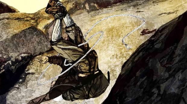 Upadek Stanisława Jaworskiego na Turmi Messnera 11.12.1983 (rys. Ewa Łabaj)