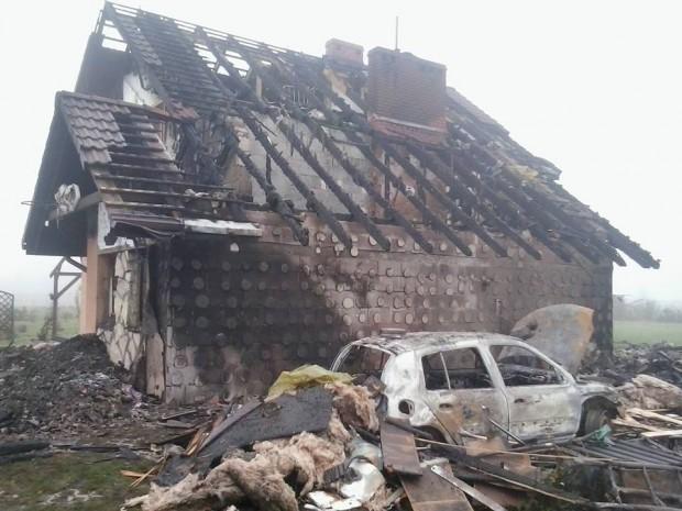 Dom Jacka i Haliny po nieszczęśliwym pożarze - straty są olbrzymie