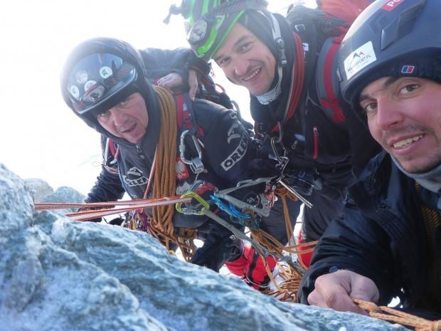 Jacek Czech, Adam Bielecki i Kacper Tekieli w ścianie Matterhorn