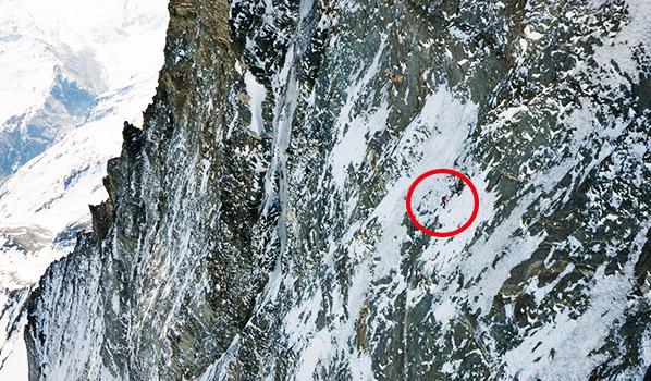 Dani Arnold w północnej ścianie Matterhornu