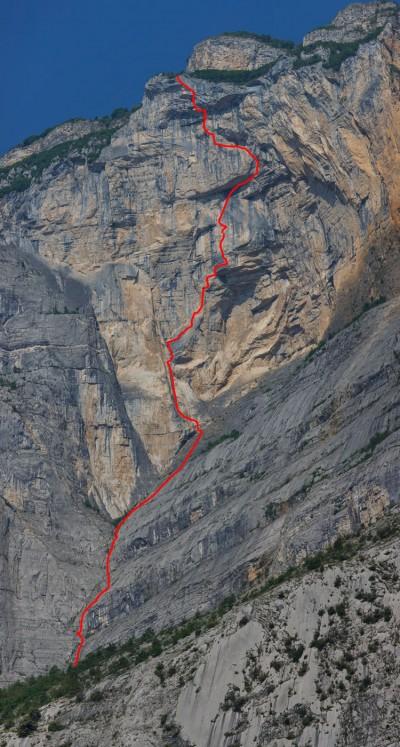 """""""Brento Centro"""" - przebieg drogi (fot. arch. Alpine Wall Tour)"""