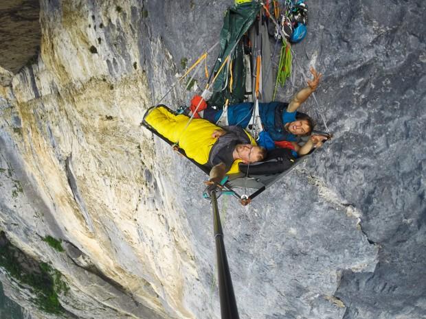 Po nocy w portaledge'u (fot. arch. Alpine Wall Tour)
