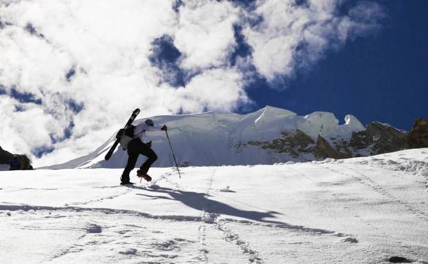 Andrzej Bargiel podczas wspinaczki na Broad Peaku
