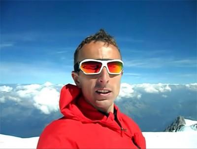 Marcin Pawłowski na Mont Blanc