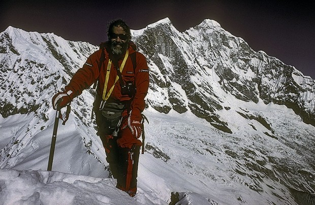 Chris Bonington na Menlungtse w 1988 roku, Chiny (fot. Chris Bonington Picture Library)