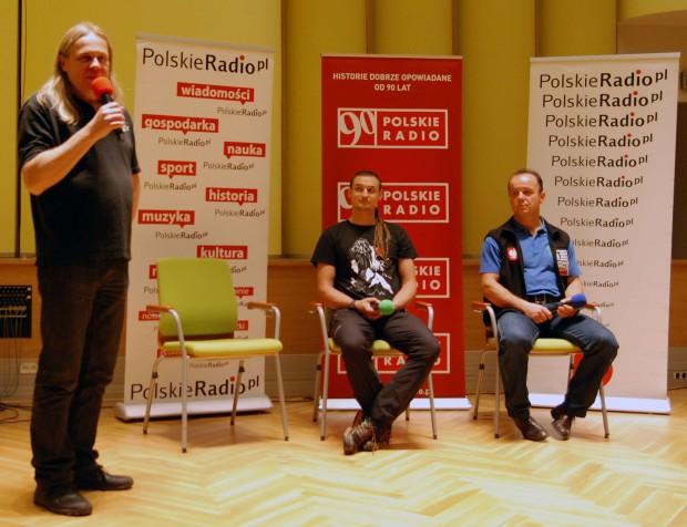 Prowadzący konferencję Andrzej Szozda oraz członkowie wyprawy - Adam Bielecki i Jacek Czech (fot. wspinanie.pl)