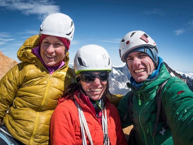 Mayan Smith-Gobat, Ines Papert i Thomas Senf na szczycie Torre Central del Paine