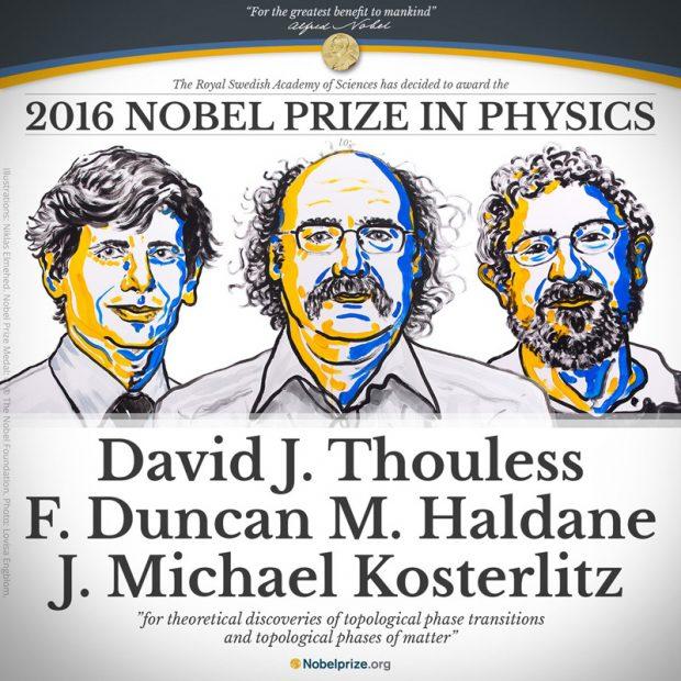 Nagrodzone Noblem trio fizyków
