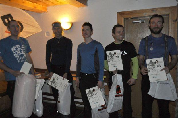 Najlepsza piątka mężczyzn, od lewej: Damian Granowski, Emil Frastia, Wadim Jabłoński, Karol Dąbrowski, Damian Bielecki.