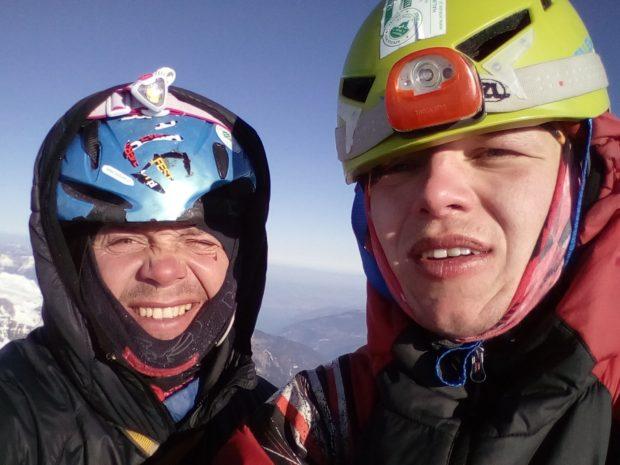 Jacek Czech ojciec i Jacek Czech syn na szczycie Eigeru