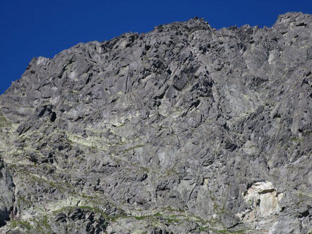 Górna, lewa część wschodniej ściany MSW (fot. M. Tertelis)