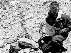 Jorge Egocheaga na Aconcagua