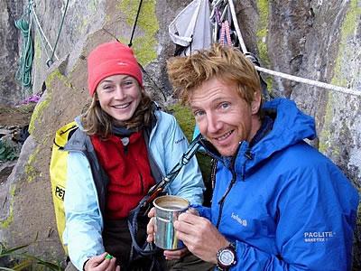 Stéphanie Bodet i Arnaud Petit na biwaku (fot. Kairn)