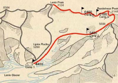 Pamir Szczyt Razdelnaya (6148 m n.p.m.)