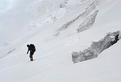 Prawdopodobne miejsce wypadku Piotra Morawskiego z bliska (zdjęcia z 2008 roku, źródło Artur Hajzer)