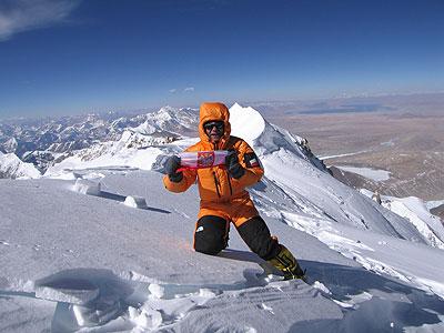Piotr Morawski na Shisha Pangma - I zimowe wejście, 2005 rok