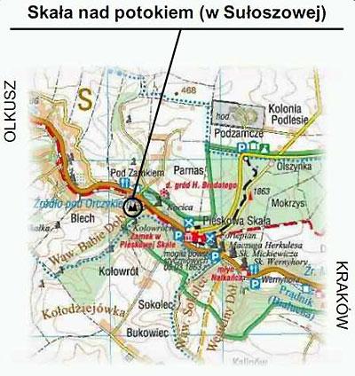 Sakała nad Potokiem - mapa dojazdu