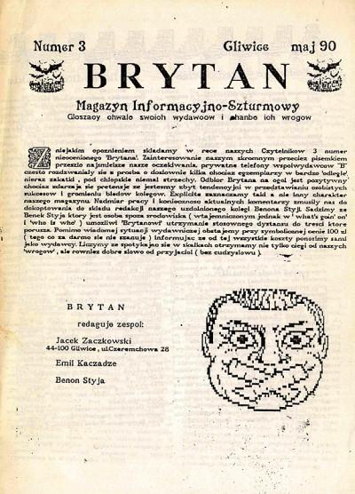 """""""Brytan"""" nr 3 (maj 1990)"""