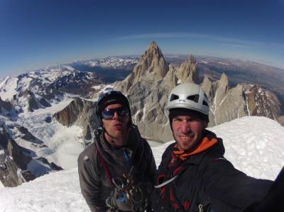 Zespół na szczycie Cerro Torre (fot. Jakub Radziejowski / Marcin Tomaszewski)