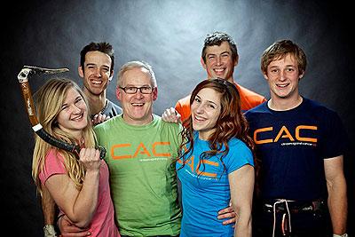 Ambasadorzy CAC: Shauna Coxsey, Tom Randall, John Ellison, Alex Puccio, Andy Turner i Pete Whittaker