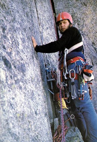 Artur Hajzer w ścianie Dru