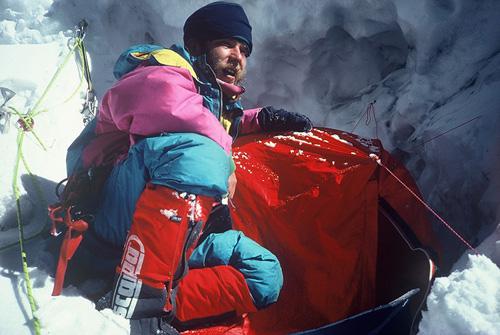 Artur Hajzer w ścianie Lhotse (fot. Krzysztof Wielicki)