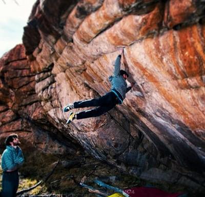 "Daniel Woods na ""Defying Gravity"" 8C (fot. Cameron Maier)"