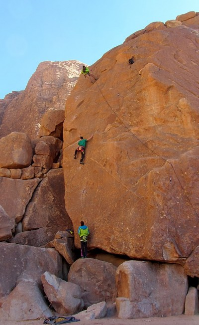 Klemen Bečan na Morpho 8a, Wadi Rum