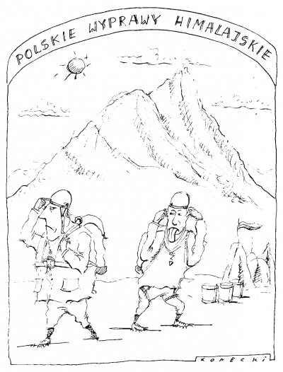 Polskie wyprawy himalajskie (rys. Marek Konecki)