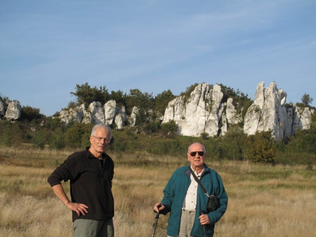 Wrzesień 2010. Andrzej Sławiński i Janusz Kurczab w Skałkach Rzędkowickich (fot. Krystyna Konopka)