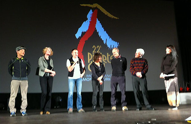 Jury Piolets d'Or podczas ceremoni wręczenia nagród