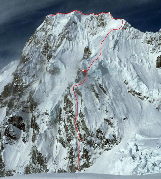 Linia drogi na Mt Laurens. (fot. Mark Allen)