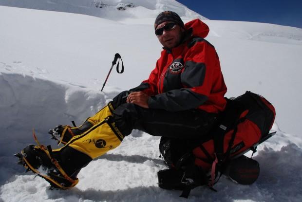 Piotr Morawski podczas wyprawy na Gasherbrum I w 2008 (fot. piotrmorawski.com)