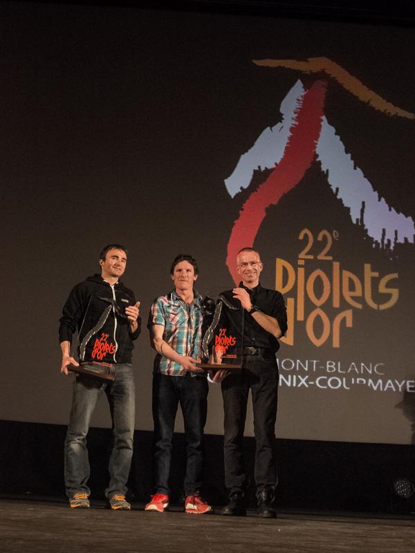 Ueli Steck, Ian Welsted i Rafał Sławiński (fot. Giuseppe Di Mauro)
