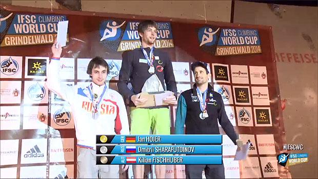 Męskie podium w Grindelwald 2014
