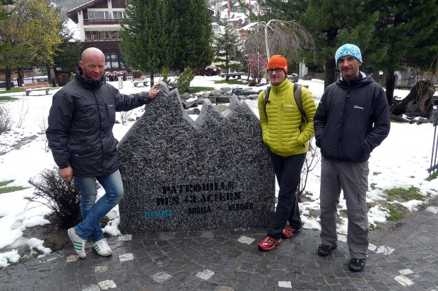 Ekipa w Zermatt przed tegorocznym startem (fot. Marcin Zwoliński/KS Kandahar)