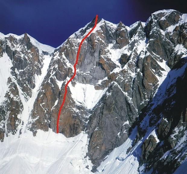 Droga Mróz-Bougerol na Mt Maudit (fot. i topo Janusz Kurczab)