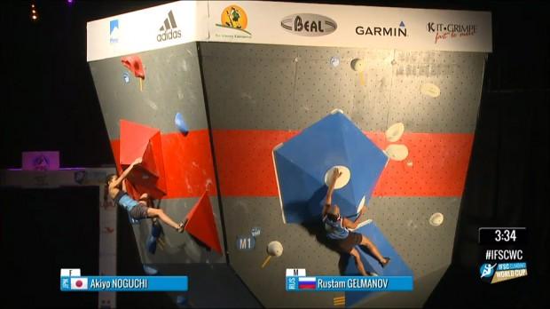 Zwycięzcy, Akiyo Noguchi i Rustam Gelmanow  w akcji na pierwszym problemie