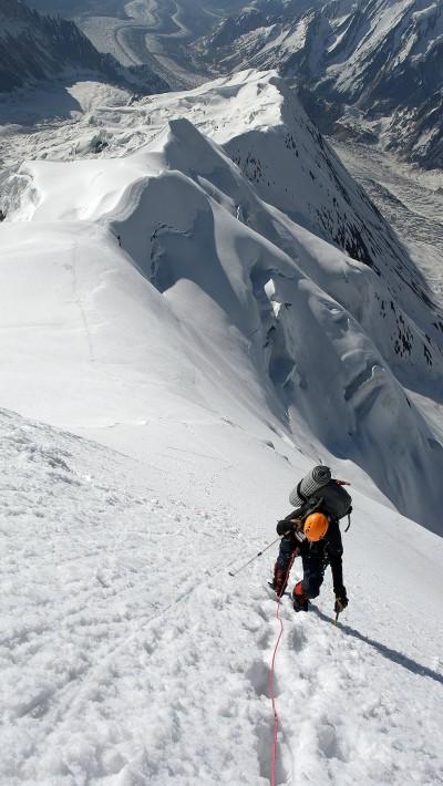 Podejście pod Snow Dome (fot. arch. wyprawy)
