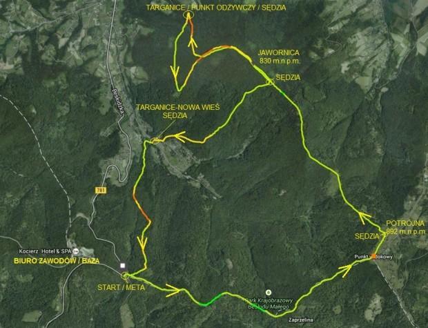 Mapa II Biegu Potrójnej