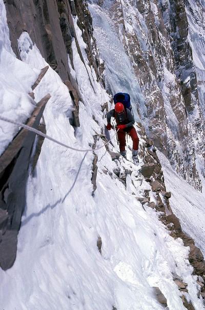 Wspinaczka w południowej ścianie Annapurny (fot. Ryszard Szafirski)