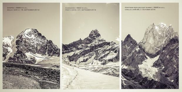 Trzy szczyty, na które weszli Siegrist, Abegglen i Senf (fot. planetmountain.com)