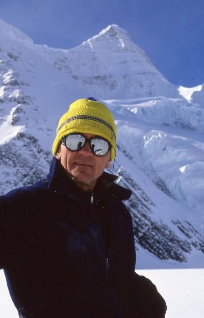 Ryszard Szafirski podczas jednej z prób wejścia na Mount Robson (fot. arch. Ryszard Szafirski)