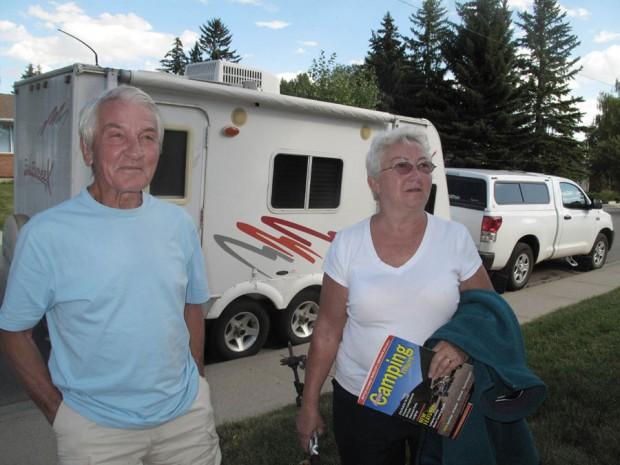 Ryszard i Bożena Szafirscy w Calgary latem 2012 roku