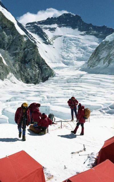 Obóz I zimowej wyprawy na Everest (fot. Ryszard Szafirski)