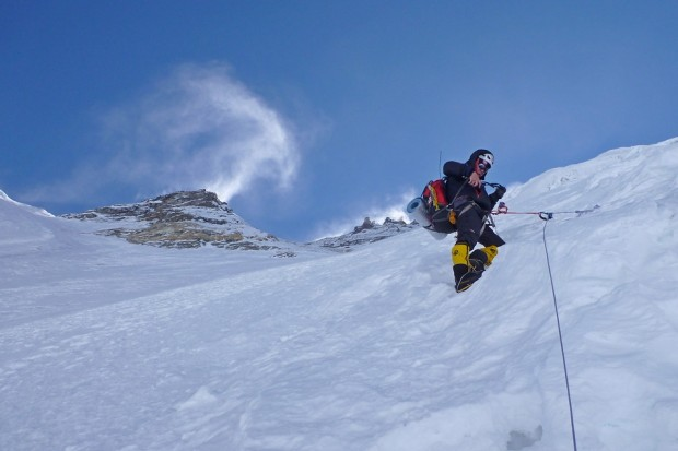 Artur Hajzer na Lhotse (fot. Artur Małek)