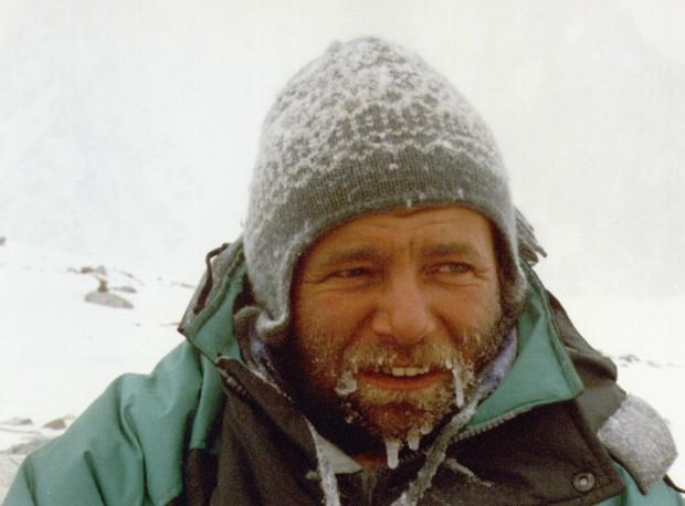 """Mirosław """"Falco"""" Dąsal -zima na K2 1987/88 (fot. Alek Lwow)"""